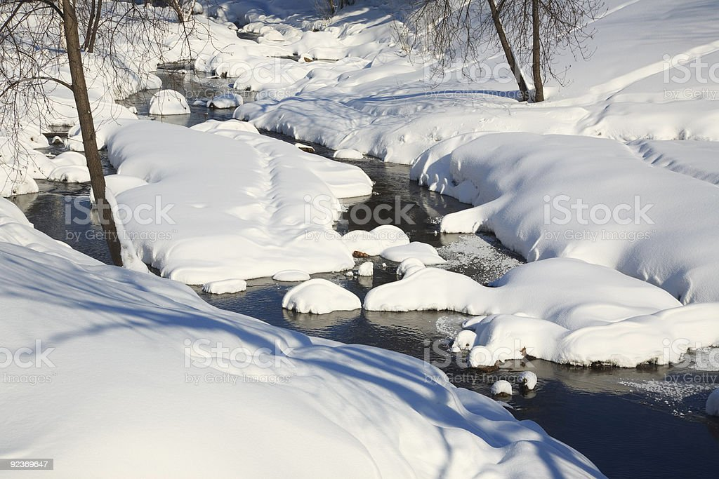 Winter river landscape royalty-free stock photo
