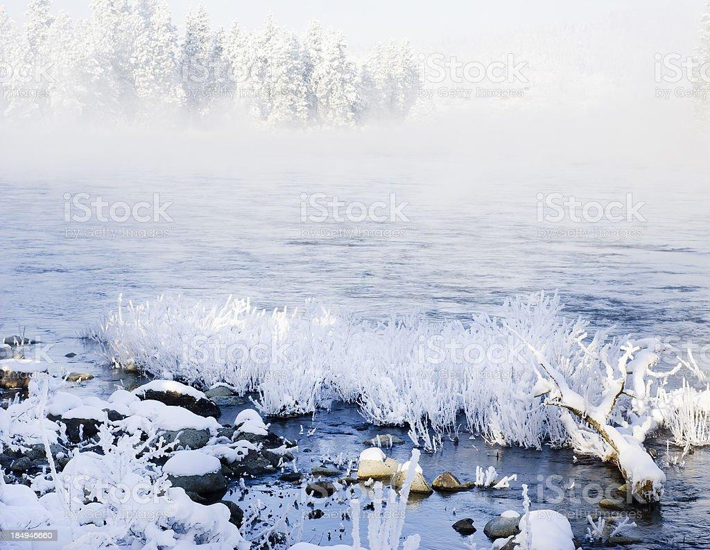 Winter River stock photo
