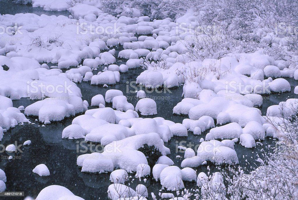 冬の川 ストックフォト