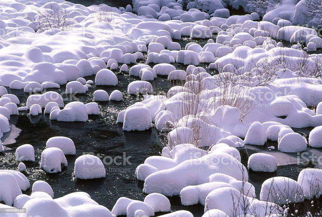 冬の川 ロイヤリティフリーストックフォト