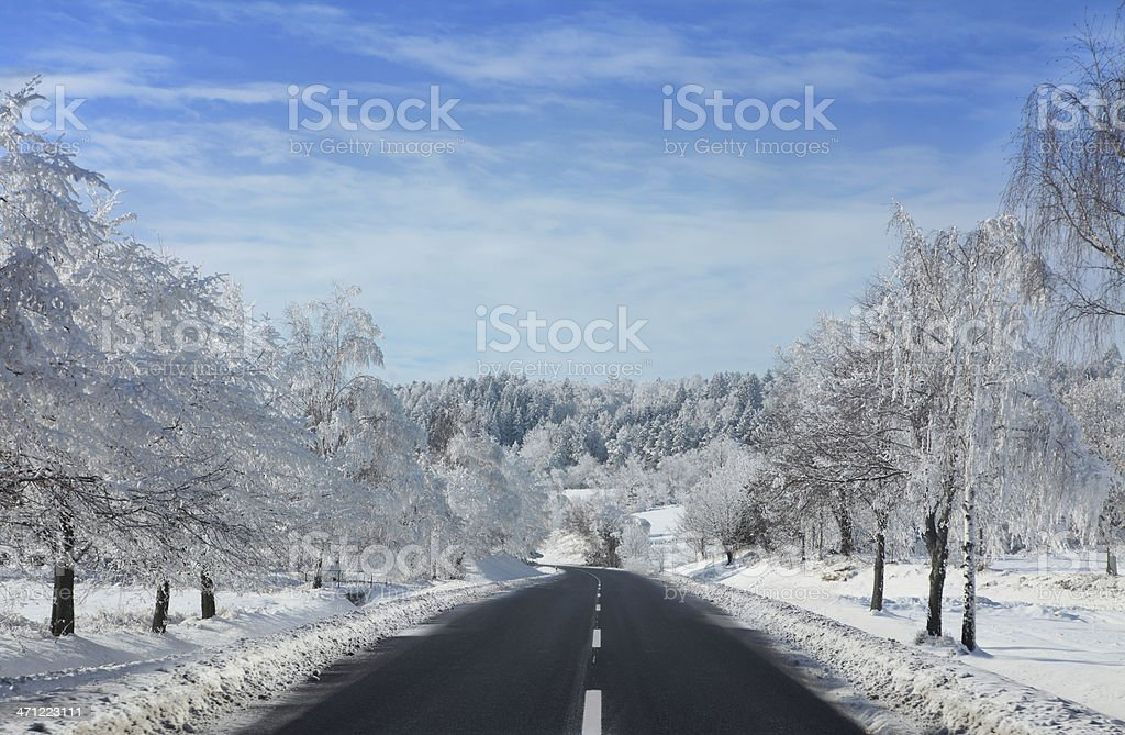 Winter Road Lizenzfreies stock-foto