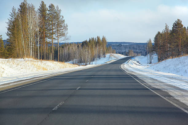 Winter road  – Foto