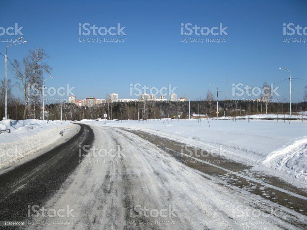 Winterdienst, Schnee, Himmel – Foto