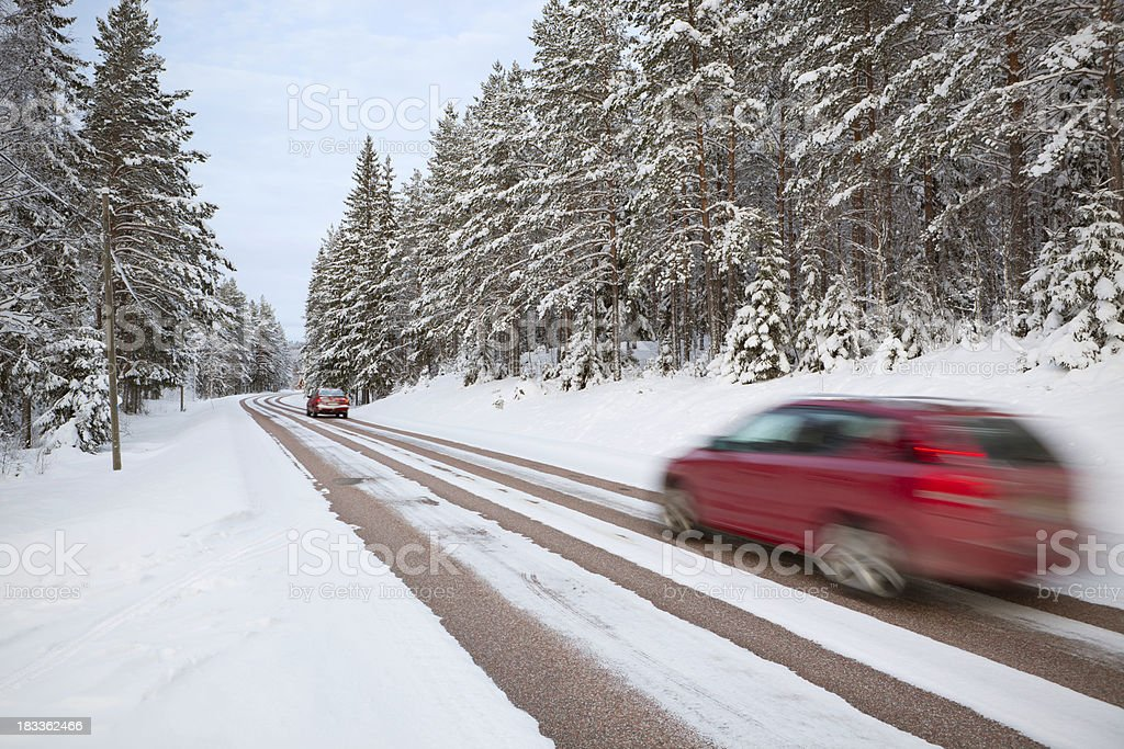 Winter road trip royalty-free stock photo