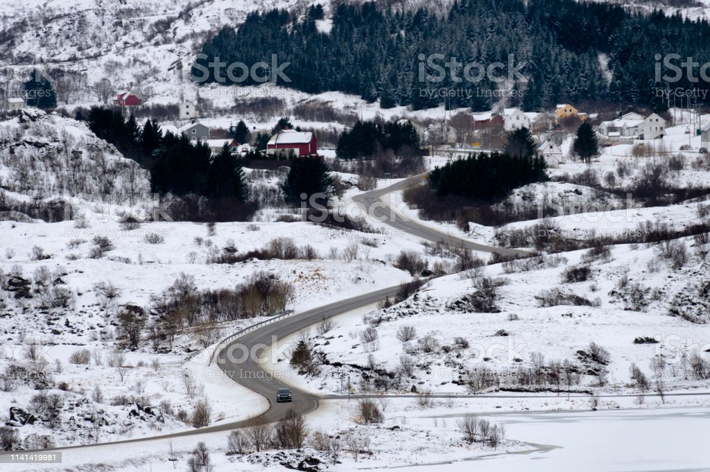 Winter Roads royalty-free stock photo