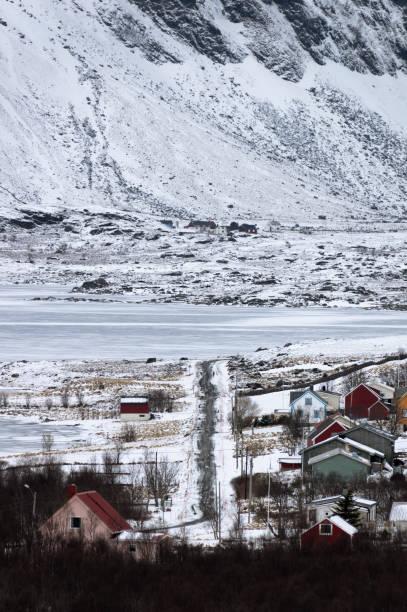 Kış yolları stok fotoğrafı