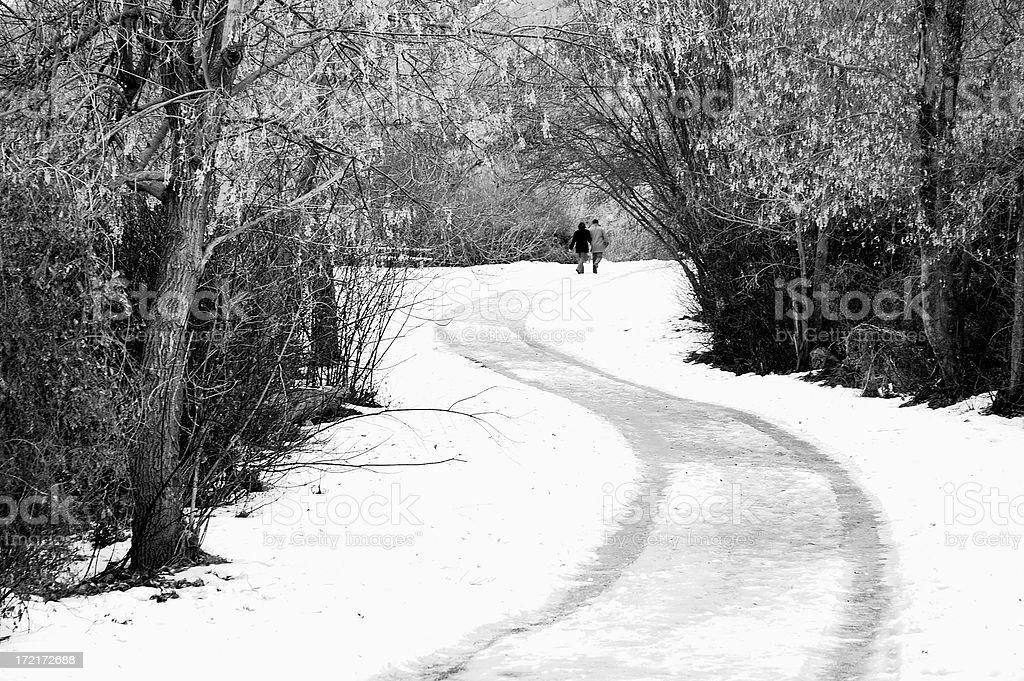 Winter Romance stock photo