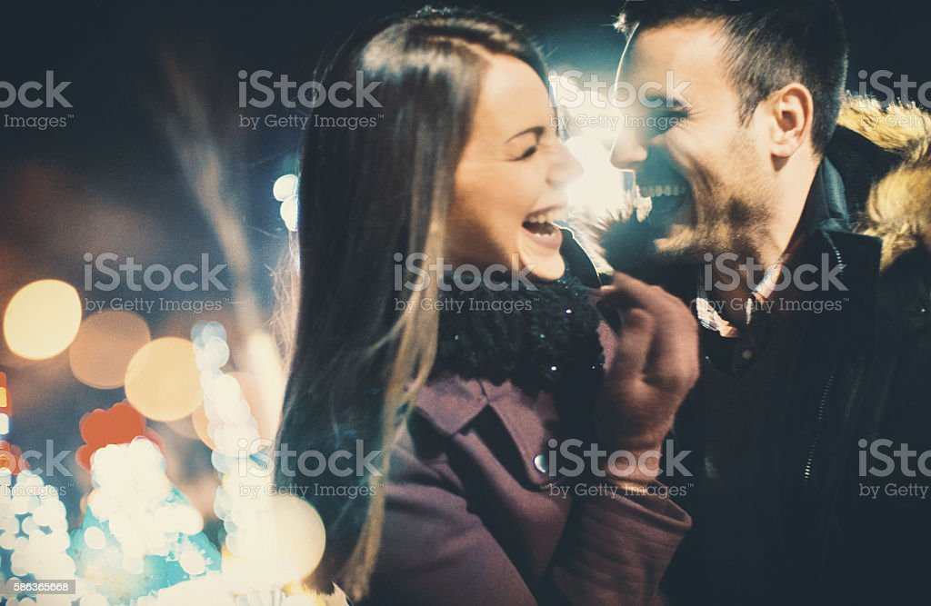 Winter romance. stock photo