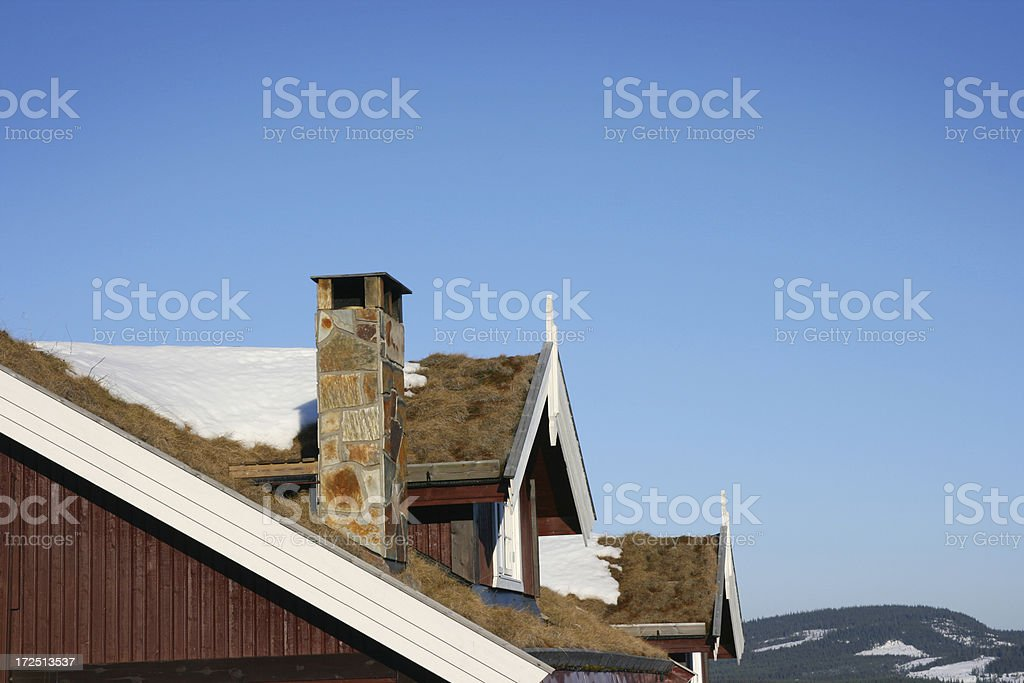Winter Roof royalty-free stock photo