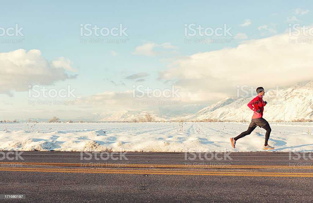 Winter Runner stock photo