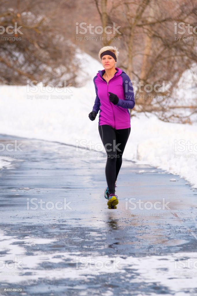 Winter Running royalty-free stock photo