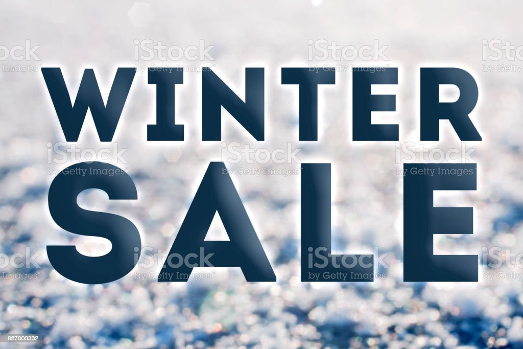 Winter sale ready advertisment stock photo