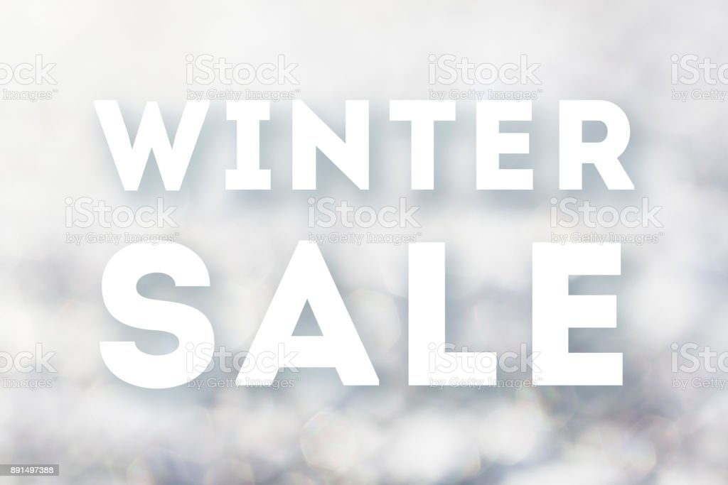 Winter sale text on frozen texture stock photo