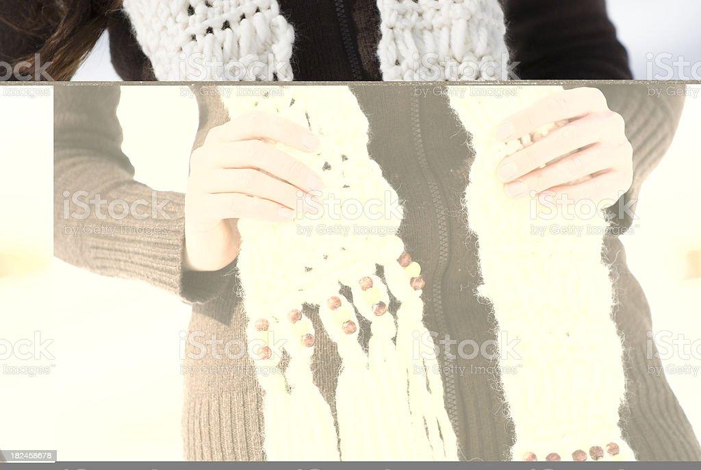 Winter Scarf Model Closeup royalty-free stock photo