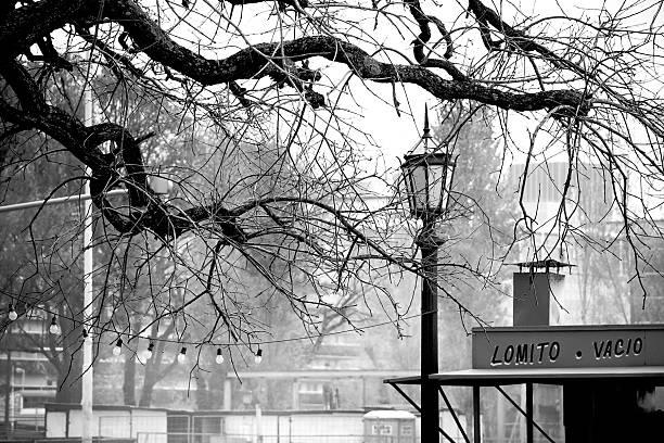 Escena de invierno en Buenos Aires a la ciudad - foto de stock