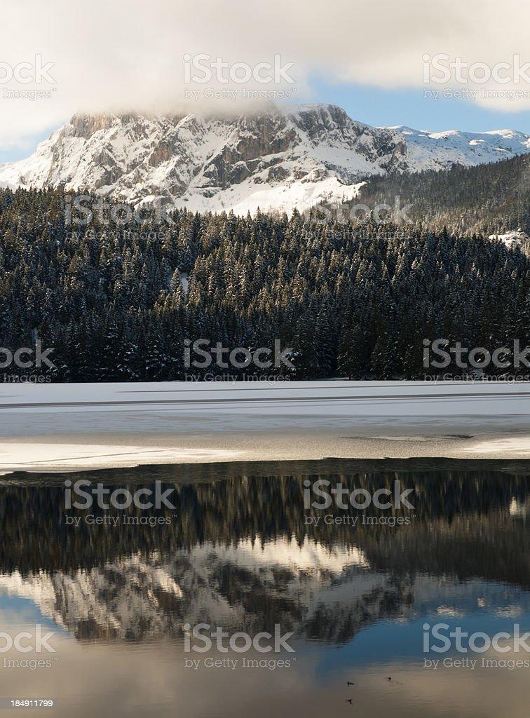 Winter scene on mountain royalty-free stock photo