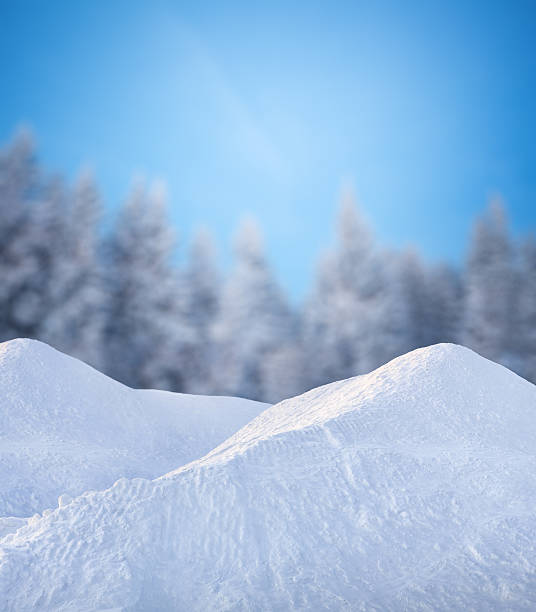 winter scene - snow pile stock photos and pictures