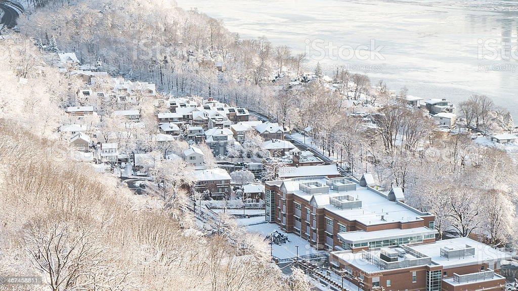 Winter Scene - School's Closed stock photo
