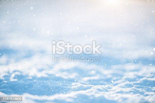 Winter scene (xmas) blue background