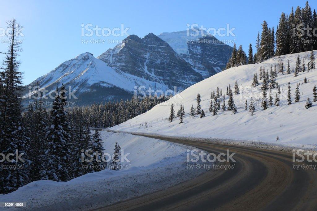Winter Scenery in Canada stock photo
