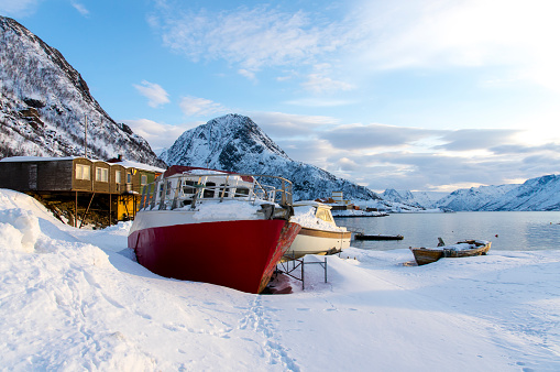 Winter Scenery In Norway Stock Photo - Download Image Now