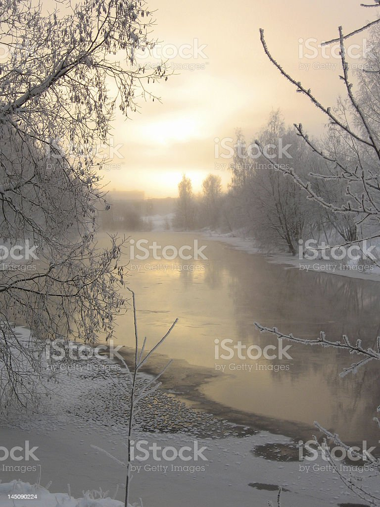 Winter scenery royalty-free stock photo