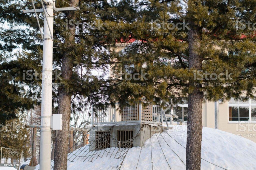 Winter schoolyard royalty-free stock photo