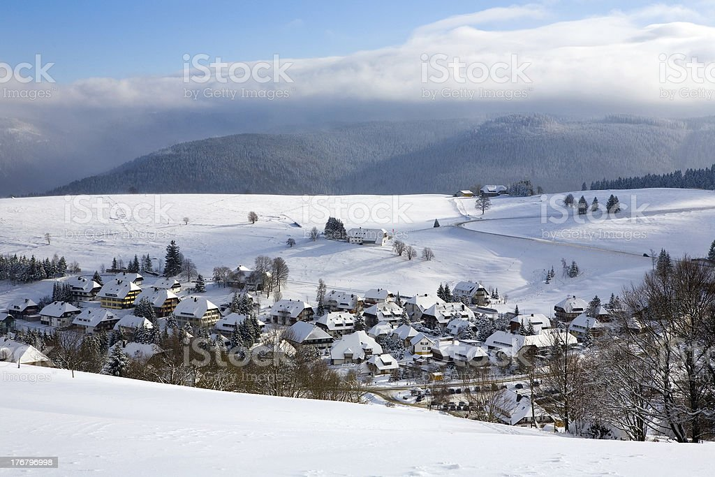 Winter, Schwarzwald, Dorf royalty-free stock photo