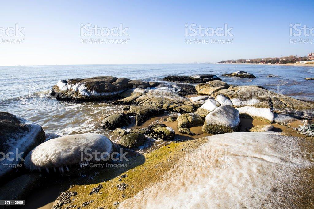 Winter seaside scenery royalty-free stock photo