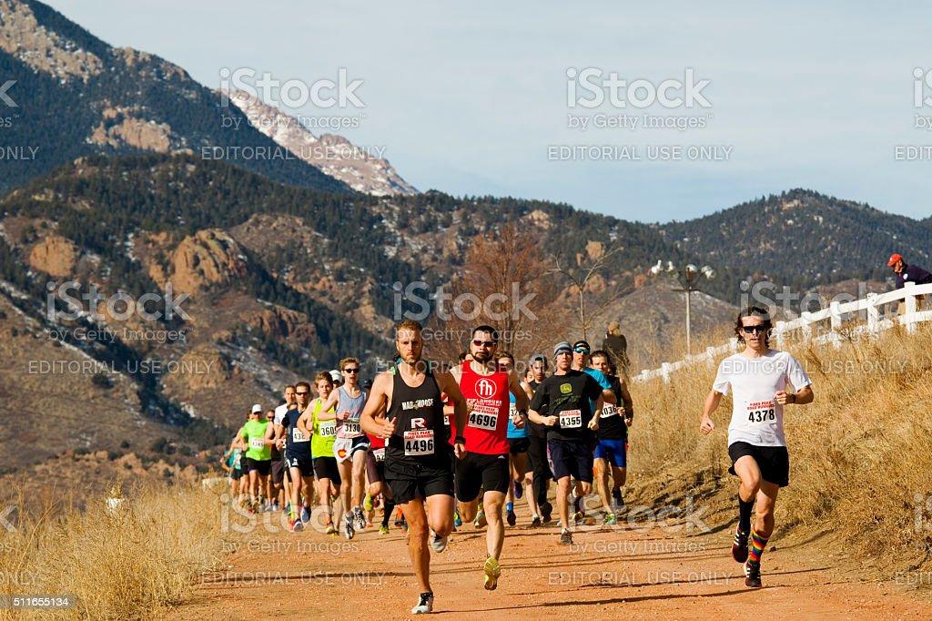 Winter Series II Runners stock photo