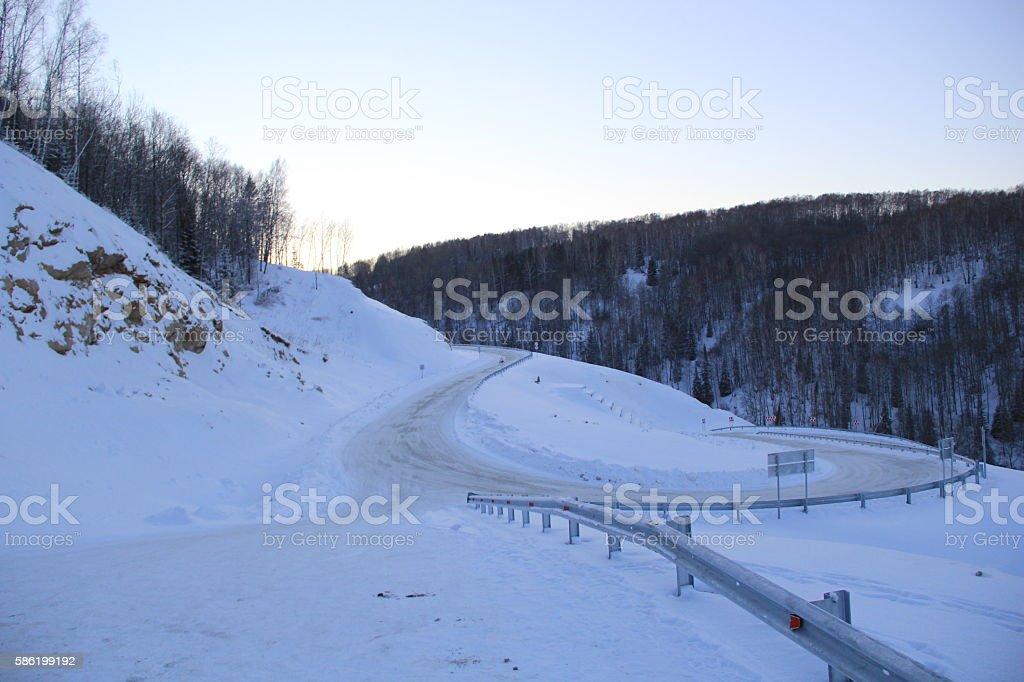 Winter serpentine stock photo