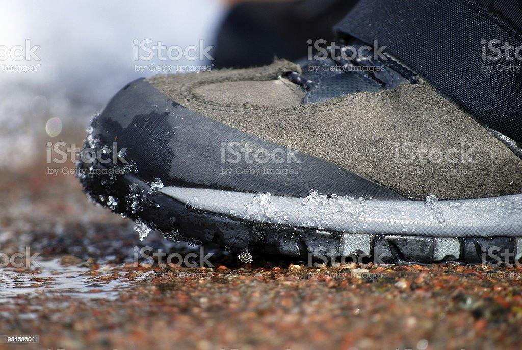 winter shoe royalty-free stock photo