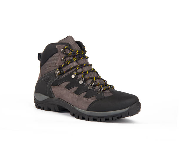 winter shoes for men isolated stock photo