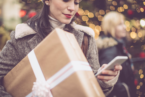 Winter Shopping Season Stock Photo - Download Image Now