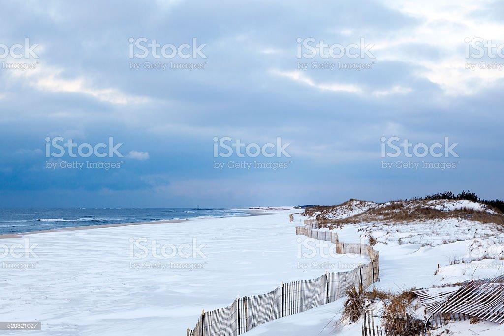 Winter Shore stock photo