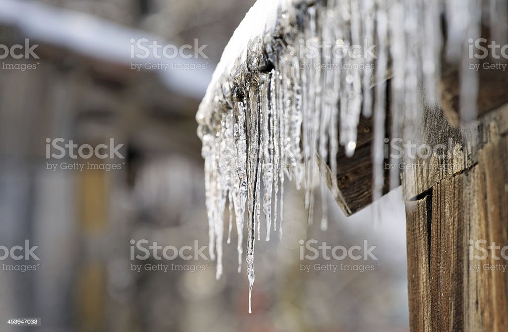 winter sign stock photo
