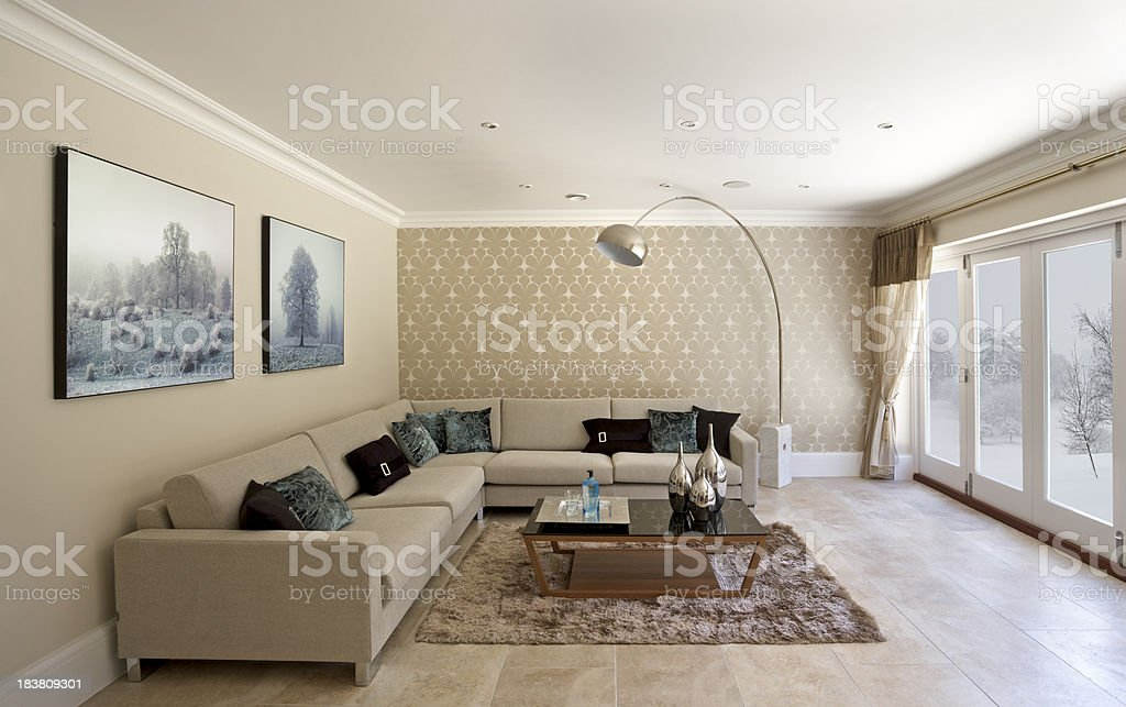 winter sitting room royalty-free stock photo