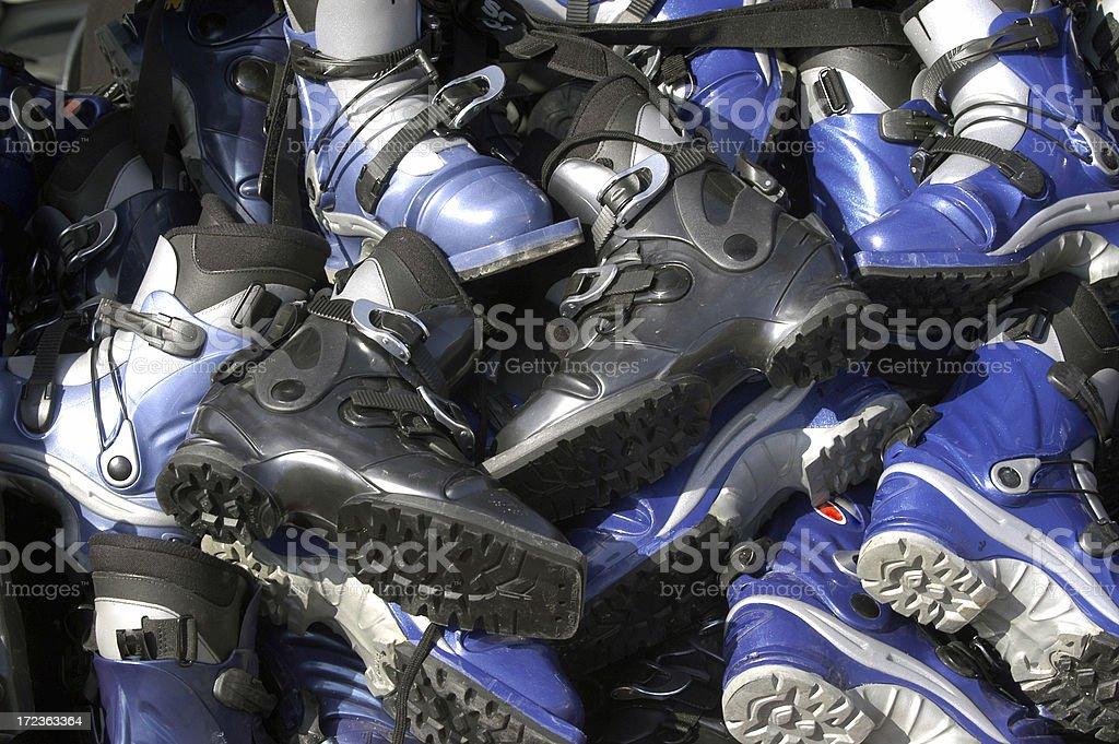 Winter Ski Boot stock photo