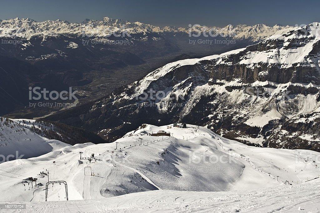 Winter Ski Resort panorama stock photo