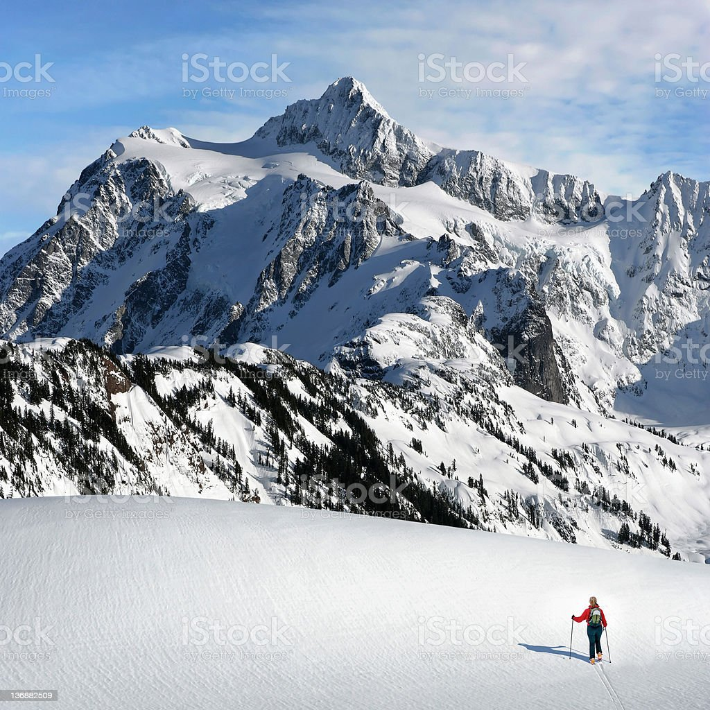XL winter skiing adventure royalty-free stock photo