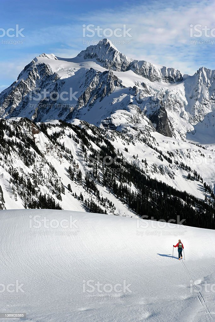 XXL winter skiing adventure royalty-free stock photo
