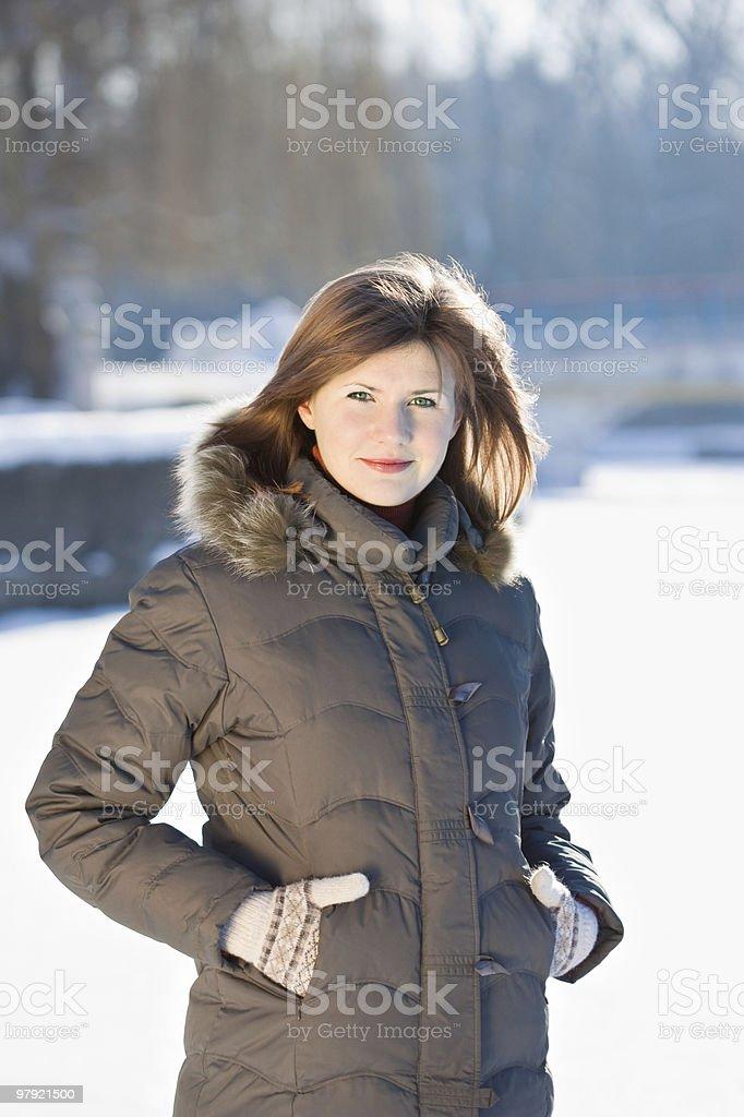 Winter smile royalty-free stock photo