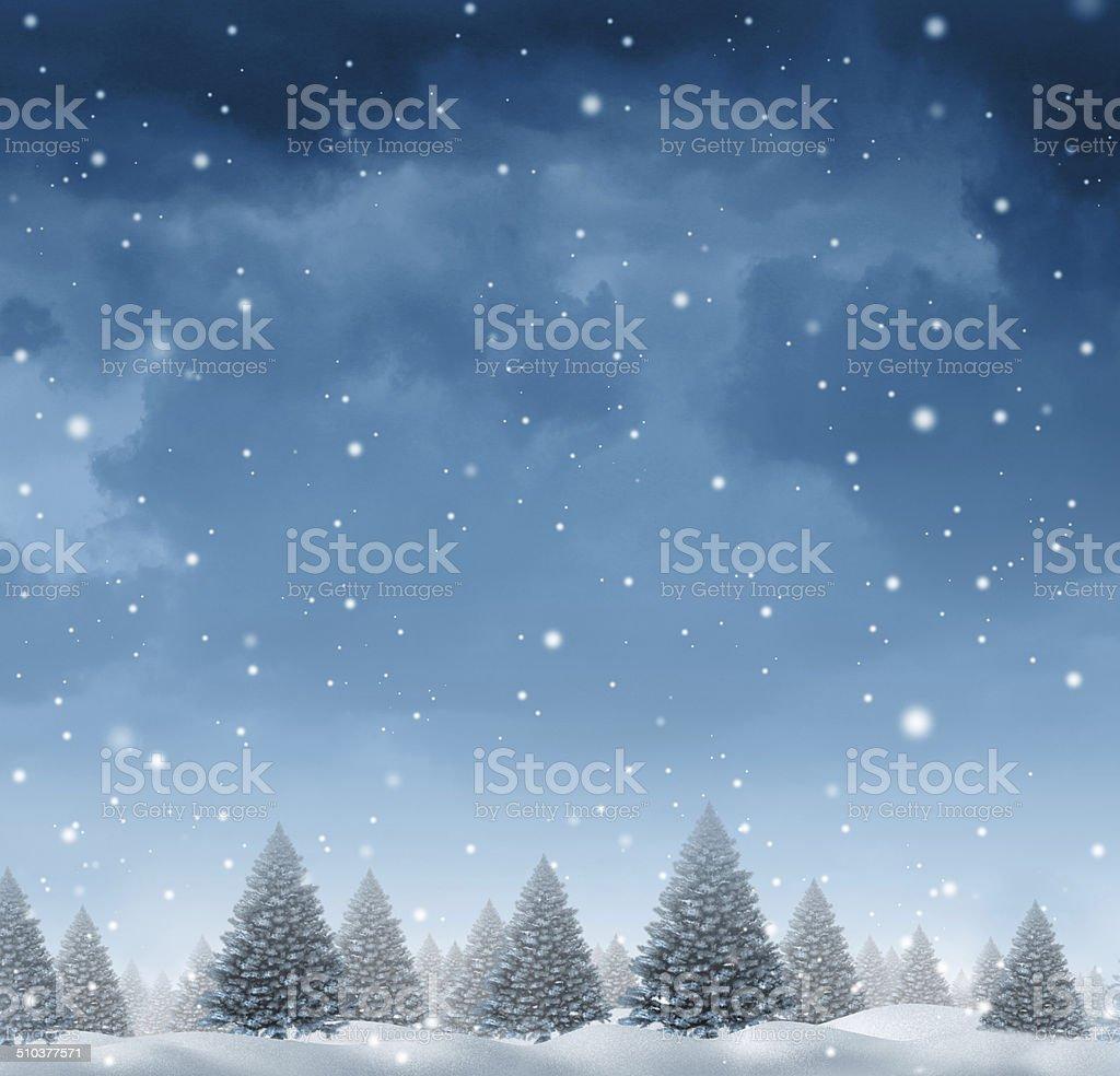 Winter Snow Background stock photo
