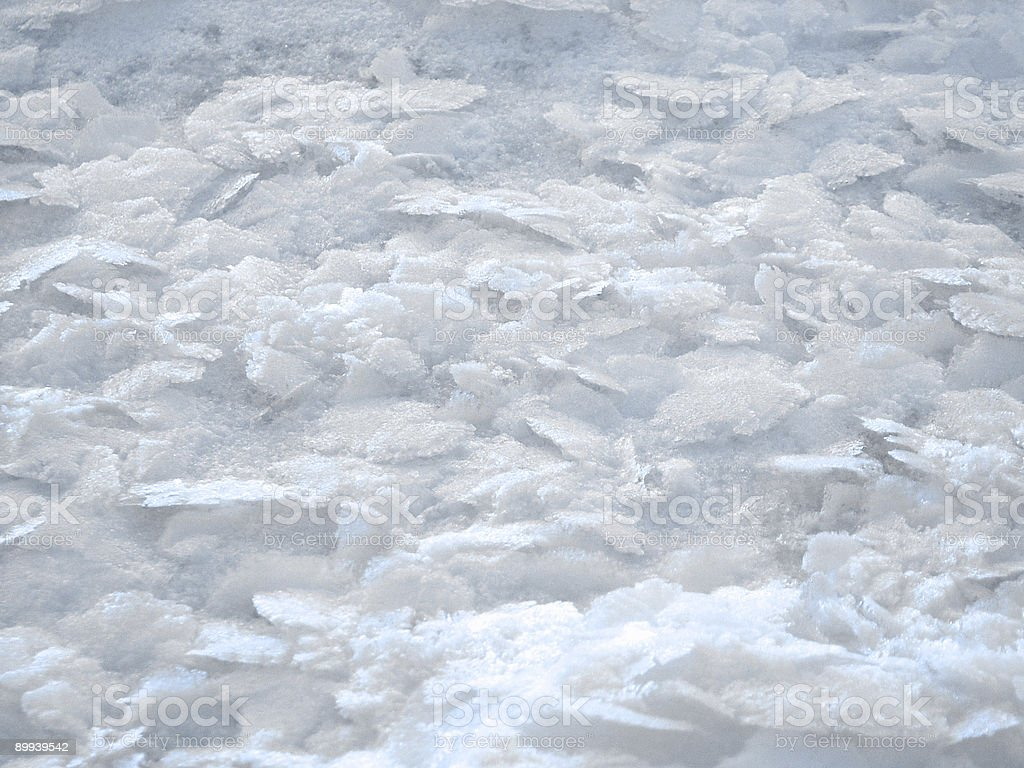 Winter Snow Frost on Ice royalty-free stock photo