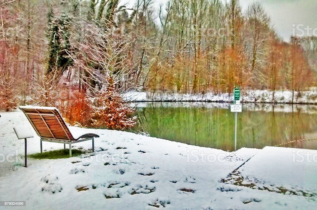 Winter snow landscape view stock photo