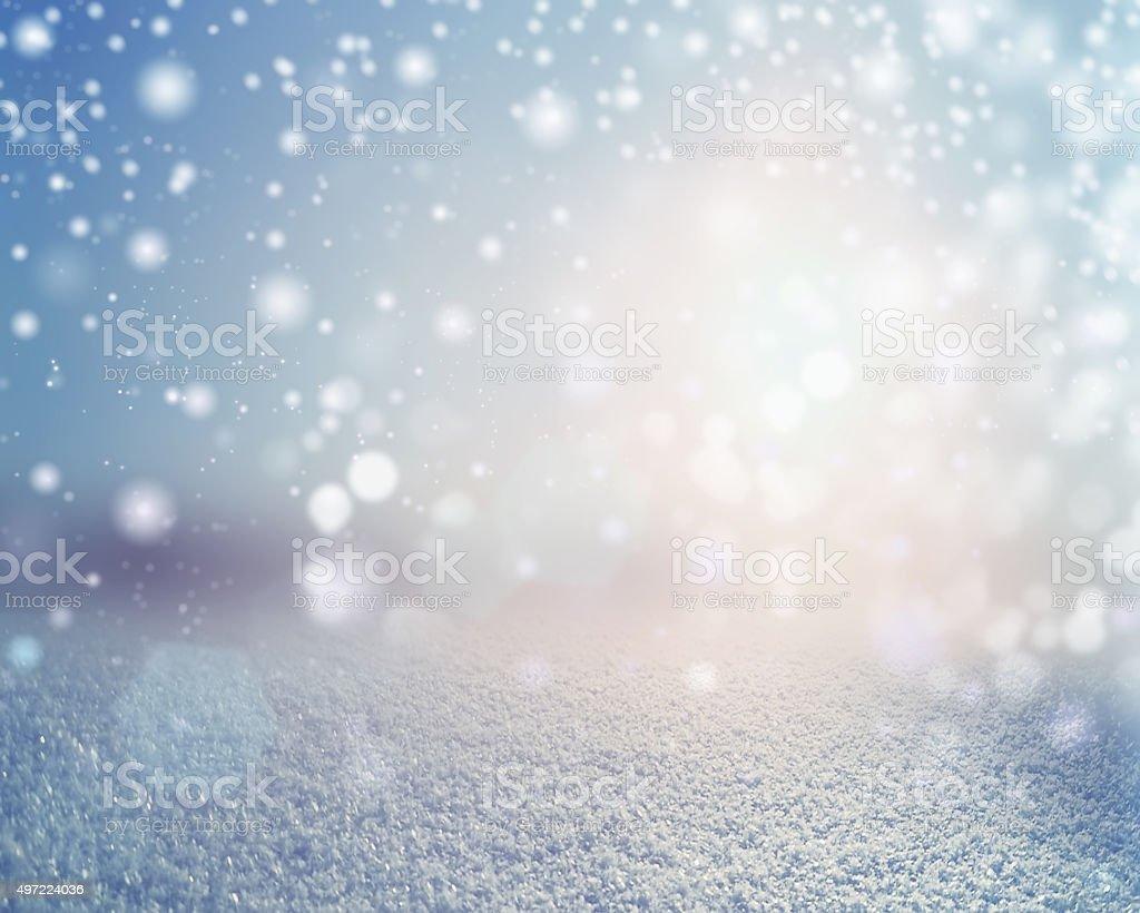 Winter snowy landscape background. stock photo