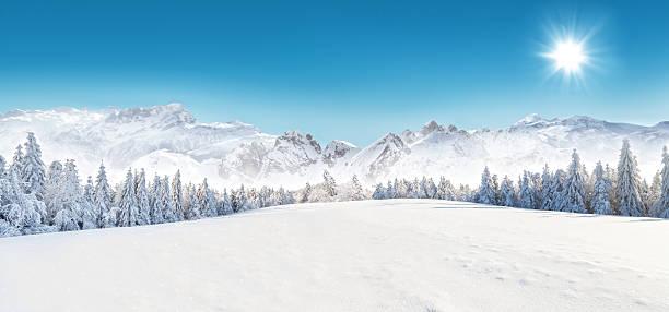 nívea paisaje de invierno - nieve fotografías e imágenes de stock