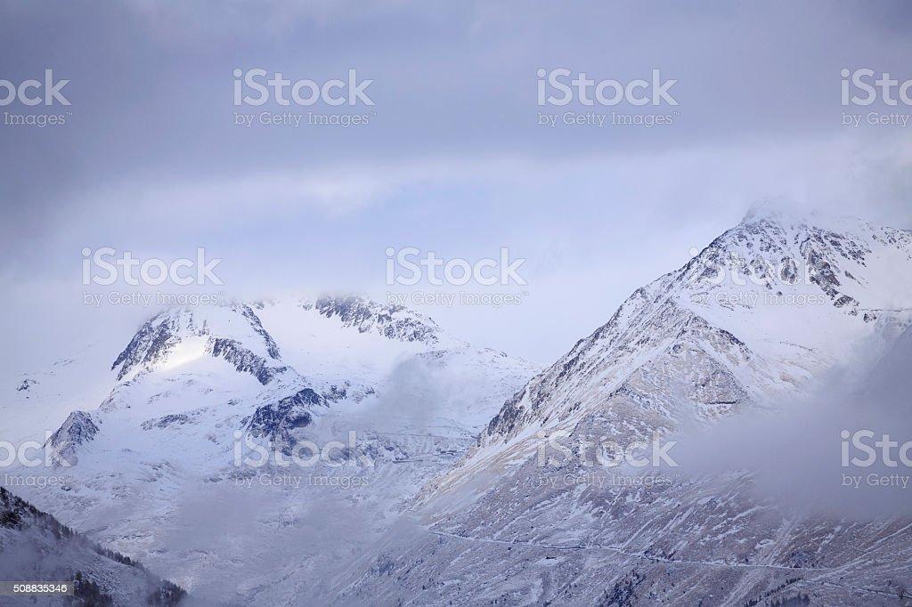 Inverno Neve Paesaggio Bellissimo Sfondo Natura Montagne