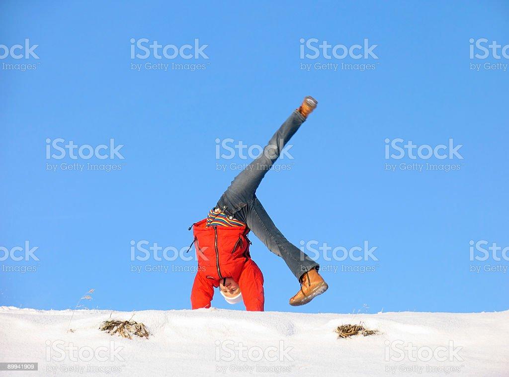Winter Somersault royalty-free stock photo