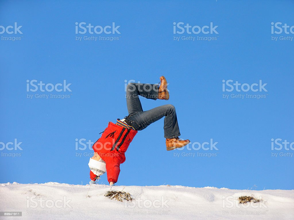 Winter Somersault royalty-free stock photo